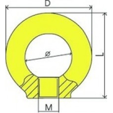 Piulita pentru ochi DIN 582 G80